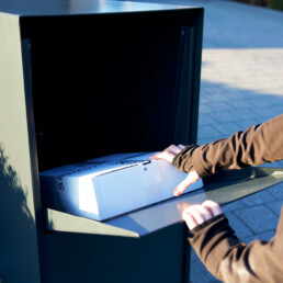 Beveiligde pakjesbrievenbus